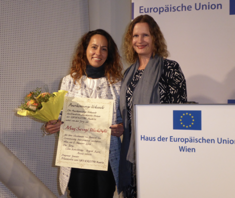 2018 - award ceremony for the Elisabeth-Markstein-Prize in recognition of her special commitment to the interests of the language mediation profession