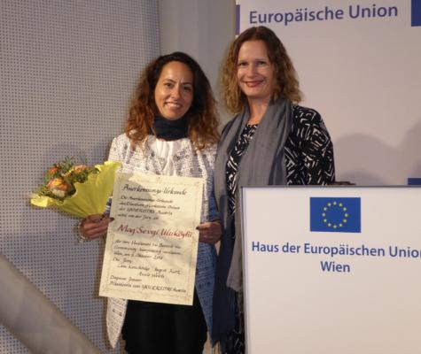 2018 - Verleihung des Elisabeth-Markstein-Preises als Anerkennung des besonderenEngagements zu Gunsten der Interessen des Sprachmittlungsberufes